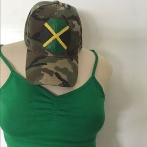 Other - Camouflage Jamaican Style Baseball Cap Round Flag.